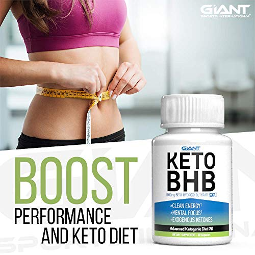 Giant Sports Keto Pills Clean Energy Weight Loss BHB Salt | Advanced Ketosis for Burning Fat and Ketones On The Ketogenic Diet | Natural Boost Perfect for Men Women, 60 Capsules 6