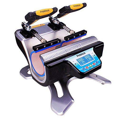 US Stock 110V Automatic Mini Double Station Mug Heat Press Transfer Machine for 6OZ 9OZ 11OZ 12OZ 17OZ Mug Printing DIY 2 Mugs Sublimation Printing