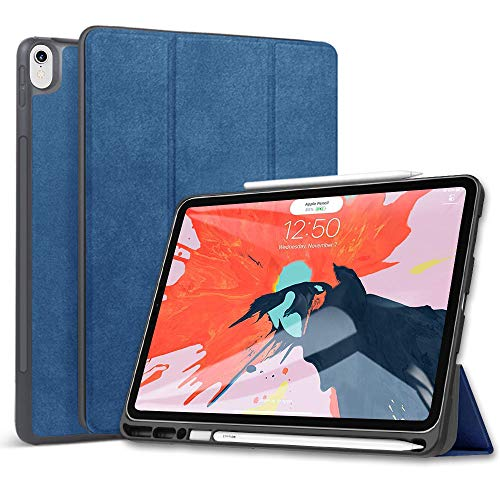 Wonzir 新しい iPad Pro 12.9 ケース (2018モデル) Apple Pencil 収納可能 Apple Pencil 2代にワイヤレス充...