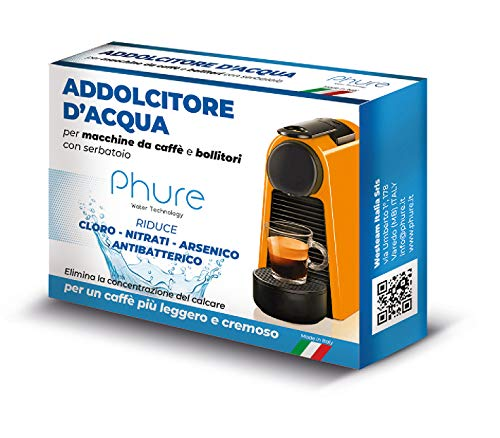 PHURE Addolcitore Acqua Antibatterico Filtro Anticalcare Universale per tutte le Macchine da Caff e Bollitori, indicato per Nespresso (ADDOLCITORE D'ACQUA)