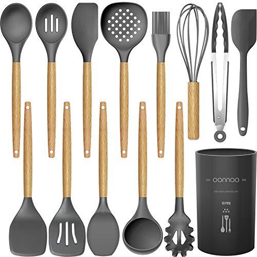 14 Pcs Silicone Cooking Utensils Kitchen Utensil Set - 446°F Heat Resistant,Turner...