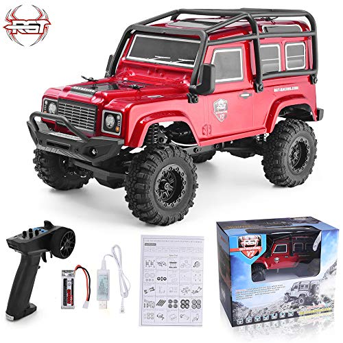 RGT RC Crawler 1:24 Scale 4wd Off Road Rock Crawler 4x4 Truck Mini RC Car (Red)