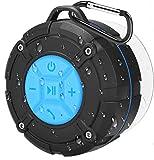 PEYOU Enceinte Bluetooth Portable,Étanche Haut-Parleur de Douche sans Fil IPX7 Parleur à Voix...