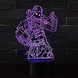 3D Illusion Nuit Lumière Win-Y LED Bureau Table Lampe 7 Couleur Tactile...