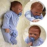 ZIYIUI 20 '/ 50 cm Reborn Poupée bébé Réaliste Vinyle Souple en Silicone Bebe Reborn Nouveau-né Baby Doll Poupee Garçon Fille Cadeau Jouets