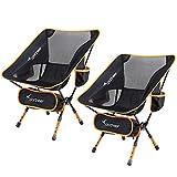 Chaise de Camping, Sportneer Lot de 2 Portable Léger...