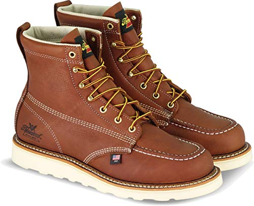 Thorogood Men's American Heritage 6' Moc Toe, MAXwear Wedge Safety Toe Boot