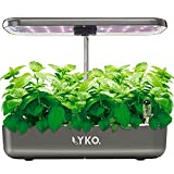LYKO 12Pods Indoor Herb Garden Kit, Hydroponics Growing System with LED Grow Light, Smart Garden Planter for Home Kitchen, Automatic Timer Germination Kit, Height Adjustable