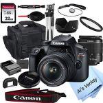 Tech :  Appareil photo reflex numérique Canon EOS Rebel T100 avec objectif zoom 18-55 mm f / 3,5-5,6 + carte 32 Go, trépied, étui, etc. (ensemble 18pc)  , avis
