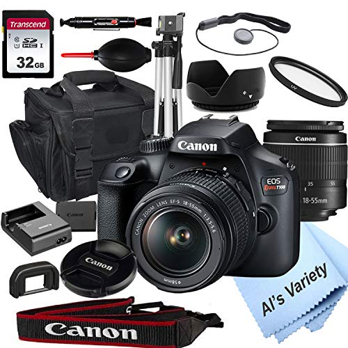 Canon EOS Rebel T100 DSLR Camera with 18-55mm f/3.5-5.6 Zoom Lens...