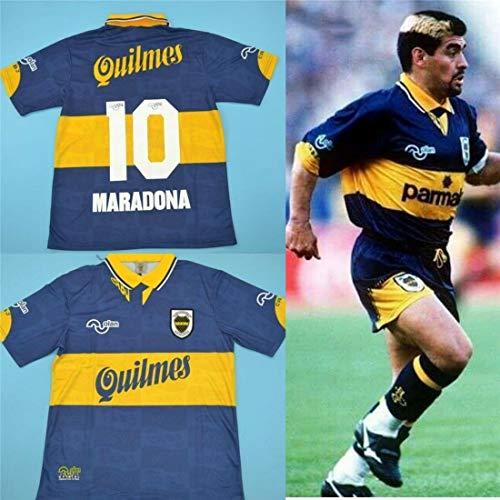 Diego Maradona Boca Juniors 1997-98 - Maglietta da rugby in stile Argentina, taglia M