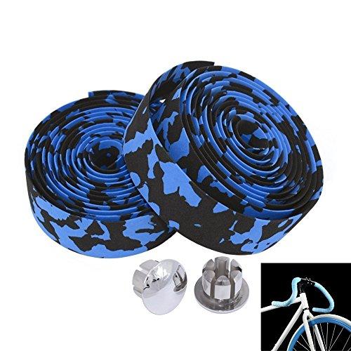 MBrisk Camouflage Series Fahrradteile Schwammmuster Schaum Griffschlaufe, rutschfeste Schlaufe mit Mountainbike mit Bar Plugs 2 PCS
