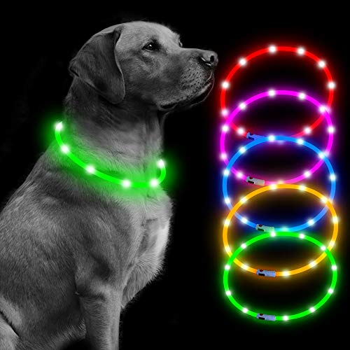 BSEEN Led Dog Collar USB Rechargeable Glowing Pet...