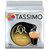 Tassimo Café Dosettes - 80 boissons L'Or Long Classique (lot de 5 x 16 boissons)