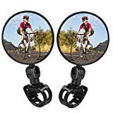 TAGVO Bike Mirrors, 2 pcs Bicycle Cycling Rear View Mirrors Adjustable Rotatable Handlebar Mounted...