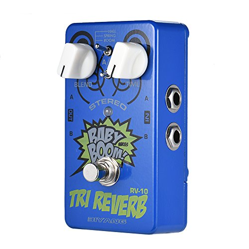 Bedler RV-10 BABY BOOM Series 3 Modes Stereo Reverb Guitar Effect Pedal True Bypass Full Metal Shell