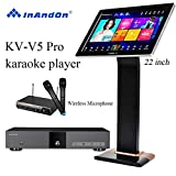 InAndon KV-V5 Pro Karaoke Player, With Wireless Mic,22'' Capacitive Touch Screen Intelligent Voice Keying Machine Real-time score The newest sty (KV-V5 Pro+8TB HD+22' Touch Screen)