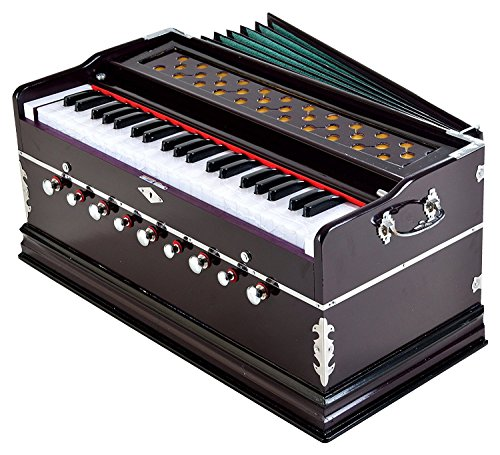 Laying Style Best Harmonium 9 Stopper, Chudidaar Bellow, 42 Key, Two Reed(Bass-Male),3 1/2 Octave,Kapler, Harmonium With Cover By Bajaj Collection