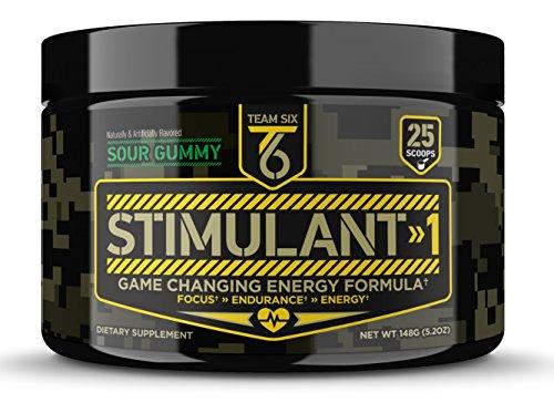 T6 Stimulant-1 Pre Workout Powder – World's Strongest Energy Drink Mix, Nootropic Fat Burner & Focus Supplement for Men & Women w/Taurine & Teacrine, 25sv 1
