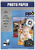 PPD Inkjet 280 g/m2 Fotopapier Seidenmatt - Sofort trocken, wischfest, wasserfest - Fotokartenformat 4x6' ( 10x15cm ) x 50 Stück PPD-67-50