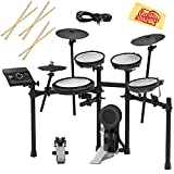Roland TD-17KV Electronic Drum Set Bundle with 3 Pairs of Sticks, Audio Cable, and Austin Bazaar Polishing Cloth