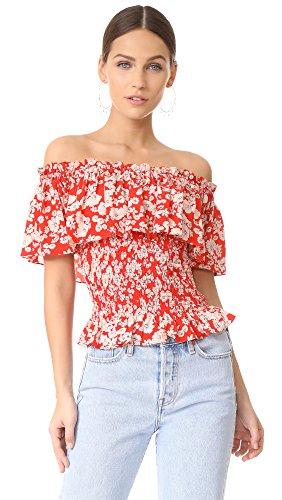 51RvibqWGdL. SL500 Cherry blossom print All over ruffle sleeve detailing