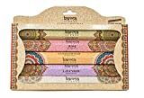 Karma Scents Premium Incense Sticks, Lavender, Sandalwood, Jasmine, Rose, Vanilla, Variety Gift Pack 85 Sticks, Includes a Holder (Variety)