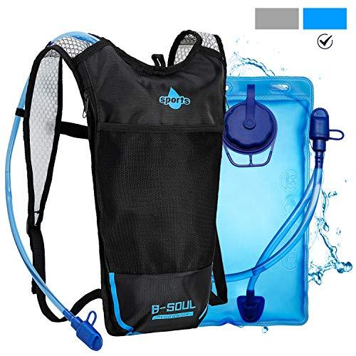 Shayson Trinkrucksack mit Trinkblase 2L,Fahrradrucksack Trinkbeutel für Damen Herren,Wandern Klettern Radsport Camping Trekking