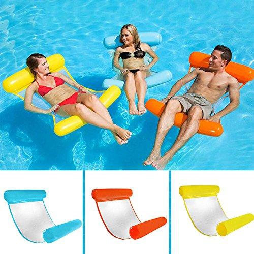 JeromKewin Wasser Hängematte Schwimmendes Bett Lounge-Sessel Herumtreiber Schwimmbad Strand Float für Erwachsene