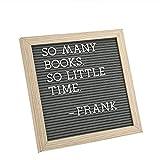 Letter Board by Crystal Lemon, Felt Letter Board, 10x10 Inches, Changeable Wooden Message Board...