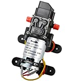 bayite 12V DC Fresh Water Pressure Diaphragm Pump with Hose Clamps Self Priming Sprayer Pump with Pressure Switch 4 L/Min 1.0 GPM 80 PSI for RV Camper Marine Boat