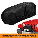 "Seven Sparta Winch Cover for Electric Winch Up to 17500 Lbs, Waterproof Winch Protector, 1680D Oxford Winch Cover, 24"" W x 10"" H x 7"" D (Black)"