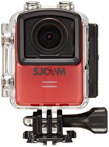【SJCAM正規品】 M20 日本語マニュアル、保証書付き SONY製イメージセンサー 手ブレ補正機能搭載 Wi-fi 30m防水 16メガピクセル 166°視野角可変レンズ搭載 (レッド)