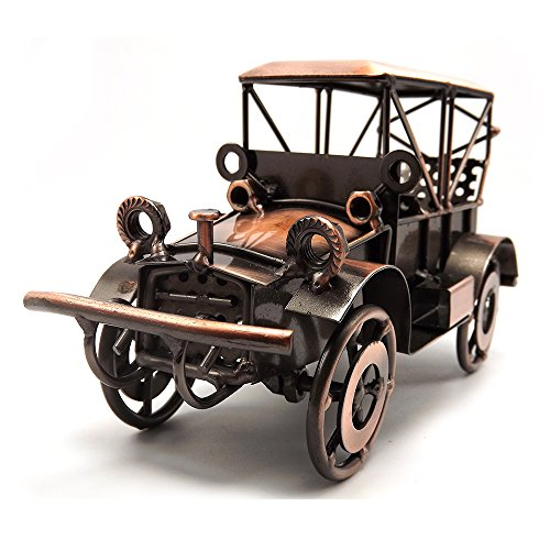 Tipmant Bronze Old Vingtage Car Toys Vechile Collectable Model Cars Gifts (Kitchen & Home)