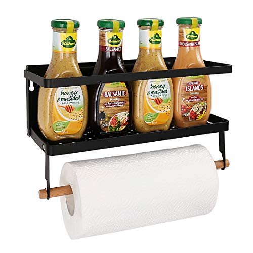 Haturi Magnetic Shelf, Magnetic Paper Towel Holder Fridge Spice...