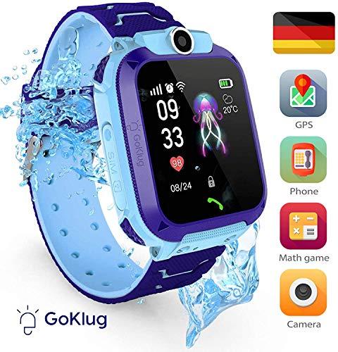 Smartwatch Kinder Tracker Kinderuhr Junge Digital Smart Watch Kinder GPS Uhr...