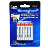 MaximalPower AAA NiMH/Ni-Mh Rechargeable Battery 1200mAh Batteries Pack Count X 4