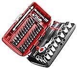 Facom R360NANO.PG Coffret Compact de serrage 1/4' avec set de vissage 38...