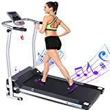 ANCHEER Fitness Electric Treadmill, Cardio Training with LCD Monitor, Pulse Grip, Safe Key Running Walking Jogging Exercise Folding Treadmill for Home/Gym/Office Use 2021 Updated
