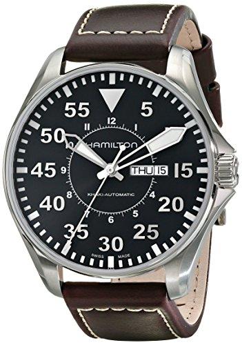 Hamilton Herren Analog Automatik Uhr mit Leder Armband H64715535