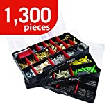 Deluxe 3-Tray 1800-piece Wall Anchor, Picturing Hanging & Nail Kit Assortment (950 pc Nail, 625 Picture Hanging Kit, 225 pc Wall Anchor Kit)
