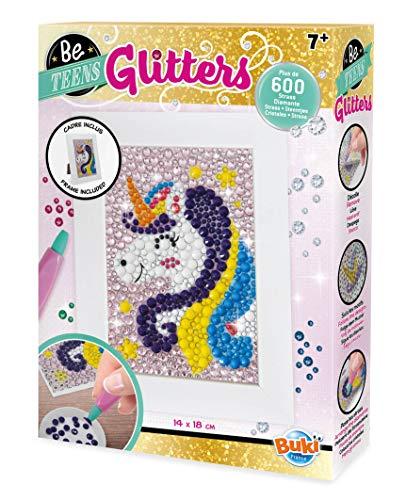Buki France- Be Teens Glitters-Unicorno Gioco Pittura Diamanti, Colore, DP002