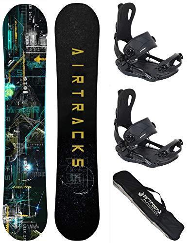 Airtracks Snow Board Set/Data Wide Flat Rocker + Attacchi Snowboard Star/Master + SB Bag