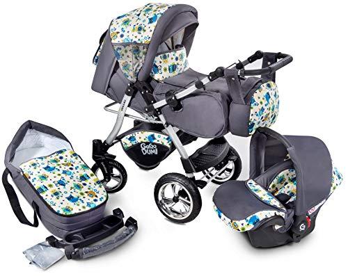 Urbano Kombikinderwagen Kinderwagen Babyschale 3in 1 System Autositz (U1-Owls)