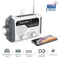 Emergency Radio, dodocool NOAA Weather Radio, Hurricane Supplies Hand Crank Battery Operated Solar Survival Radio with…