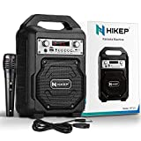 HIKEP Portable Bluetooth Karaoke Machine, Wireless PA Speaker System Voice Amplifier with Handheld Microphone Perfect for Kids & Adults Party, Karaoke and Other Outdoor and Indoor Activities