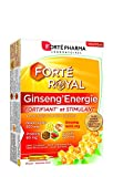 Forté Pharma - Forté Royal Ginseng'Energie | Complément Alimentaire Stimulant et fortifiant à base de Ginseng et Gelée Royale | 20 ampoules