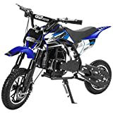 Superrio 49CC 2-Stroke Gas Power Mini Dirt Bike Dirt Off Road Motorcycle (Blue)