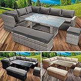 BRAST Poly-Rattan Gartenmöbel Essgruppe Lounge Set Sitzgruppe Outdoor Möbel Garten