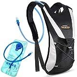 Tyuodna - Mochila de hidratación con vejiga, 5 L, ligera, mochila de senderismo, mochila de hidratación, para ciclismo, correr, escalada, senderismo, camping, color negro